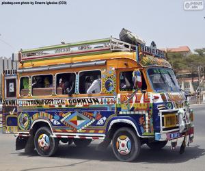 Układanka Minibus, Dakar, Senegal