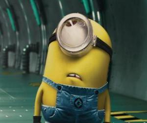 Układanka Minion jednego oka, mały humanoid bohater Jak ukraść księżyc
