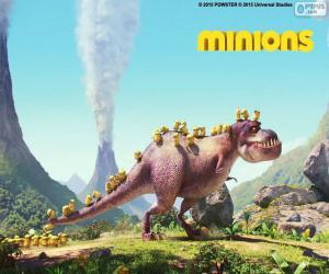 Układanka Minionki z dinozaurów