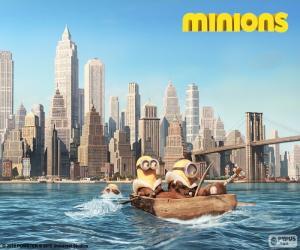 Układanka Minions, przyjechać w Nowym Jorku