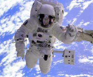 Układanka Misja kosmiczna astronauta