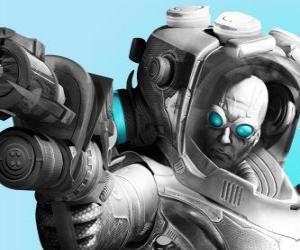 Układanka Mister Freeze z jego cold gun. Zła naukowiec jest wrogiem Batman