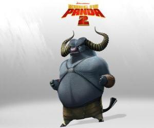 Układanka Mistrz Pędzący Wół jest najlepszym uczniem Mistrz Grzmiący Nosorożec. Jego rogi są jego najgroźniejszych broni