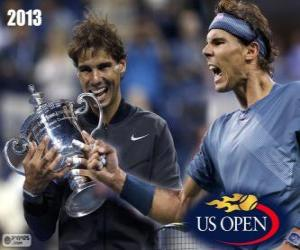 Układanka Mistrz Rafael Nadal nas US Open 2013