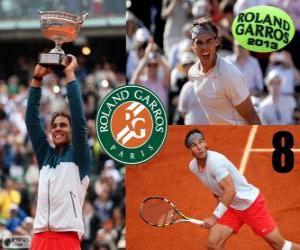 Układanka Mistrz Rafael Nadal Roland Garros 2013