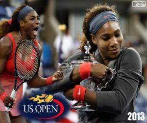 Układanka Mistrz Serena Williams nas otwarte 2013