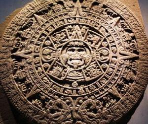 Układanka Mistyczne kalendarza aztec