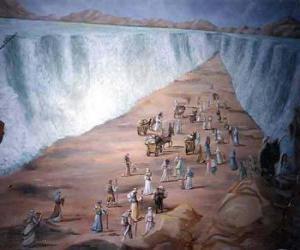 Układanka Mojżesz podzielić na wodach Morza Czerwonego w exodus Żydów