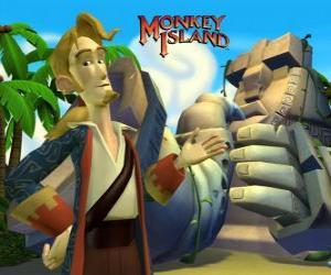 Układanka Monkey Island, gier przygodowych. Guybrush Threepwood, ważnym graczem