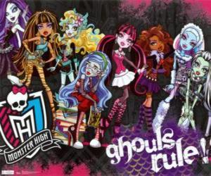 Układanka Monster High – Ghouls Rule