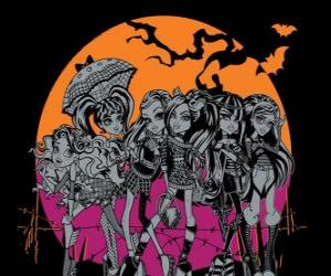 Układanka Monster High w noc Halloween