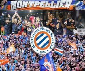 Układanka Montpellier Hérault Sport Club, mistrz francuski football League, Ligue 1, 2011-2012