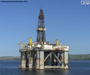 Układanka Morska Platforma Naftowa