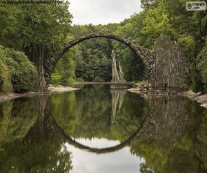 Układanka Most Diabła Rakotzbrucke, Niemcy