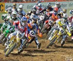 Układanka Motocross kariery