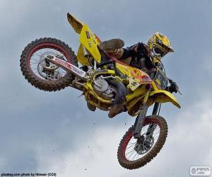 Układanka Motocross skok