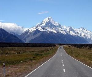 Układanka Mount Cook, Nowa Zelandia