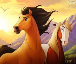 Układanka Mustang i Rosa