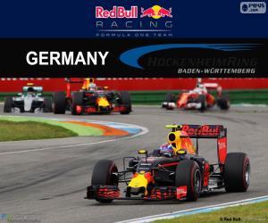 Układanka M.Verstappen GP Niemiec 2016