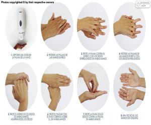 Układanka Mycia rąk