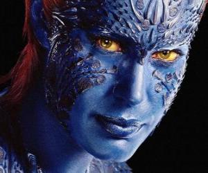 Układanka Mystique, Mistyczka to mutant supervillain człowieka, które mogą przekształcić się w każdym humanoidalne