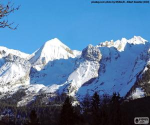 Układanka Na śniegu Mont Blanc