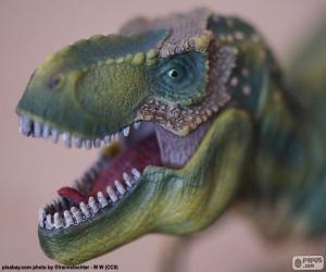Układanka Na czele dinozaura