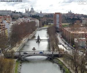 Układanka Nad rzeką Manzanares, Madryt