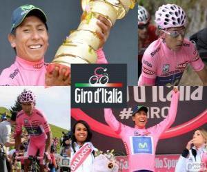 Układanka Nairo Quintana, Giro 2014