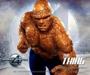 Układanka Najsilniejsze superhero z Fantastyczna Czwórka jest Stwór