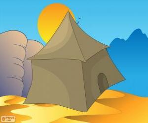 Układanka Namiot Beduinów na pustyni, Khayma