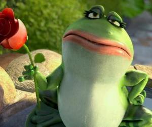 Układanka Nanette, żaba ogród