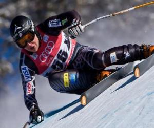 Układanka narciarka alpejska uprawiania w dół, Zjazd mężczyzn