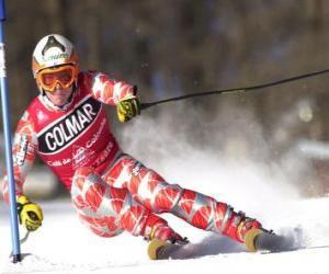 Układanka Narciarz w slalomie konkurencji