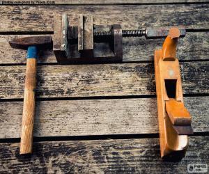 Układanka Narzędzia do obróbki drewna