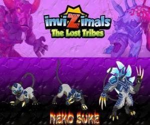 Układanka Neko Suke, najnowszej ewolucji. Invizimals Zaginione Plemiona. To Invizimala ukrycia jest mistrzem oszustwa