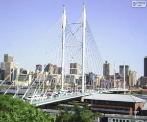Układanka Nelson Mandela most, Johannesburg, Republika Południowej Afryki