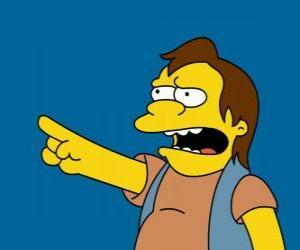 Układanka Nelson Muntz, od czasu do czasu przyjaciel Bart i Lisa przez byłego chłopaka.