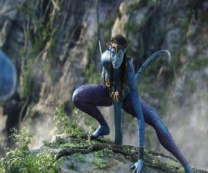 Układanka Neytiri, na'vi, rasa humanoidów z planety Pandora z długim ogonem