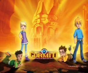 Układanka Nick, Toby, Lucas, Jessica, czterech przyjaciół, którzy stają się Lords of Nature, aby zapisać Gorm