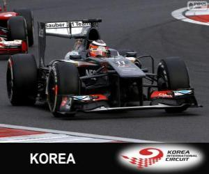 Układanka Nico Hülkenberg - Sauber - Korea International Circuit, 2013