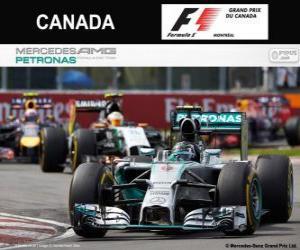 Układanka Nico Rosberg - Mercedes - Grand Prix Kanady 2014, 2 ° sklasyfikowane