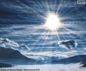 Układanka Nieba w ciągu dnia
