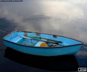 Układanka Niebieski łódź