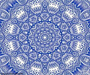 Układanka Niebieski Kwiat mandala