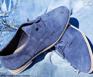 Układanka Niebieskie buty męskie