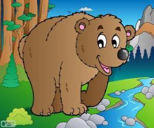 Układanka Niedźwiedź brunatny
