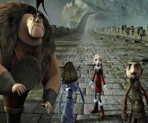 Układanka Niektórzy z bohaterów przygód Gwizdo, Zoe, Hector i Lian-Chu