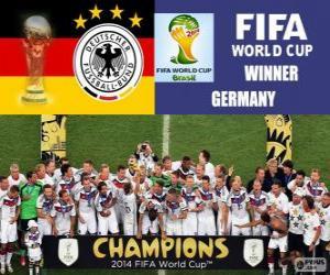 Układanka Niemcy, mistrz świata. Brazylia 2014 roku Puchar Świata