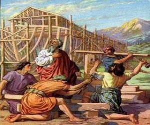 Układanka Noe zbudował arkę, aby ocalić od powszechnego potopu wybiera
